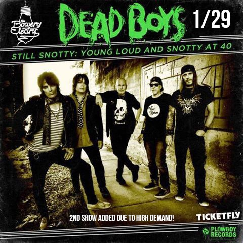 Cheetah Chrome's Dead Boys at Bowery Electric