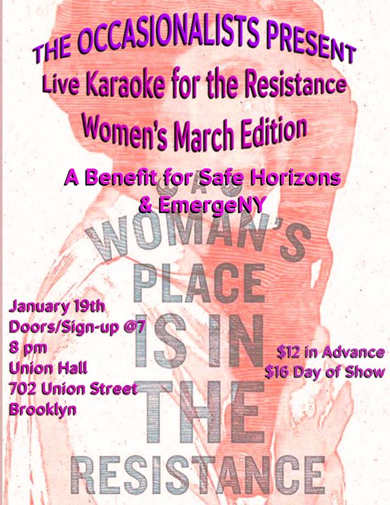 Live Karaoke for the Resistance: Women's March Edition at Union Hall - Brooklyn