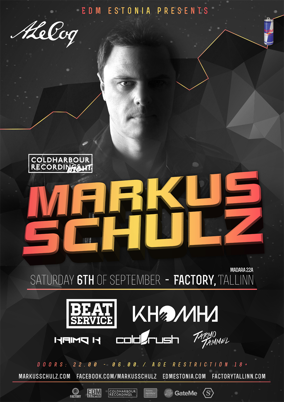 COLDHARBOUR NIGHT: MARKUS SCHULZ, BEAT SERVICE, KHOMHA
