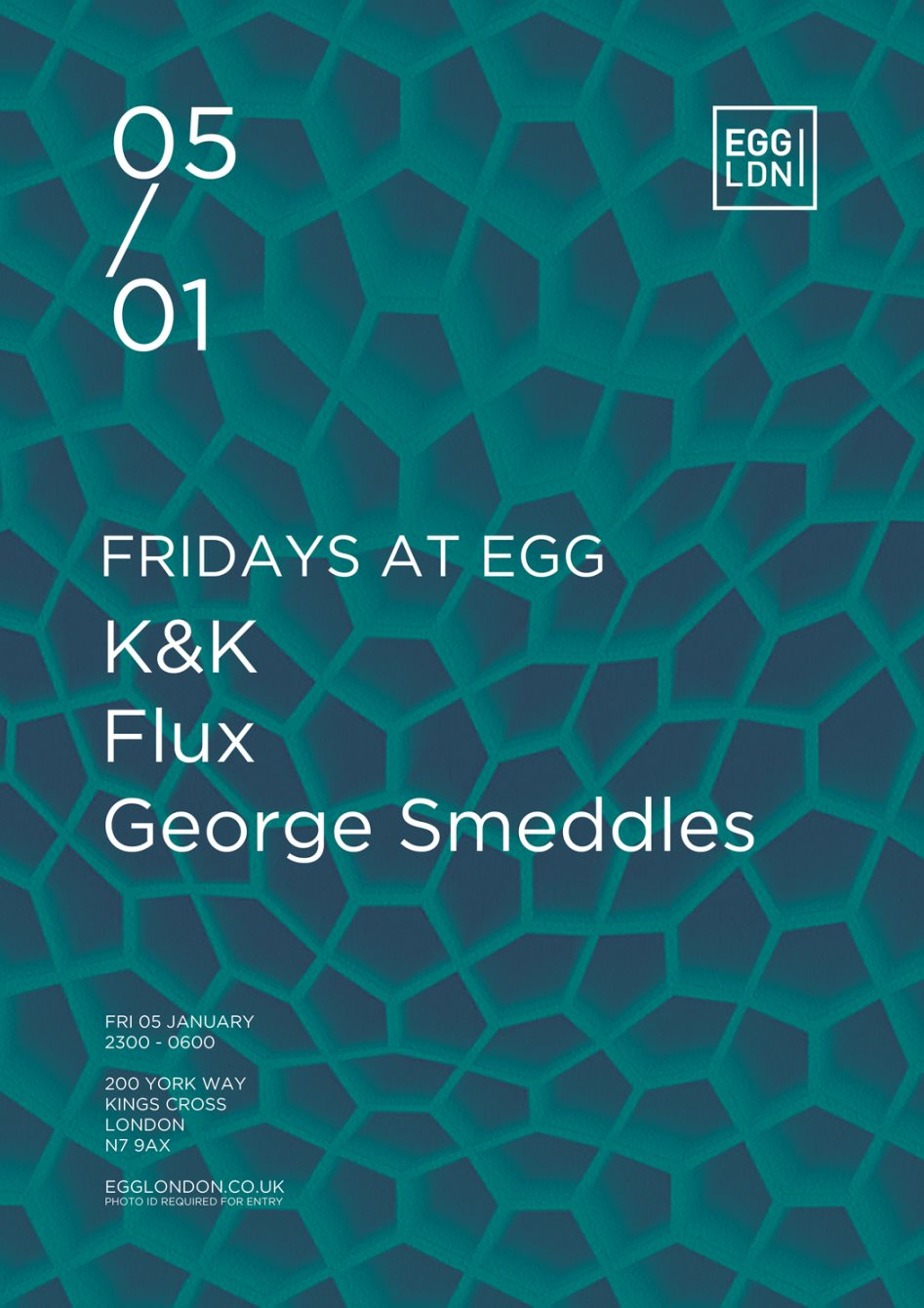 Fridays at EGG: K&K, Flux, George Smeddles