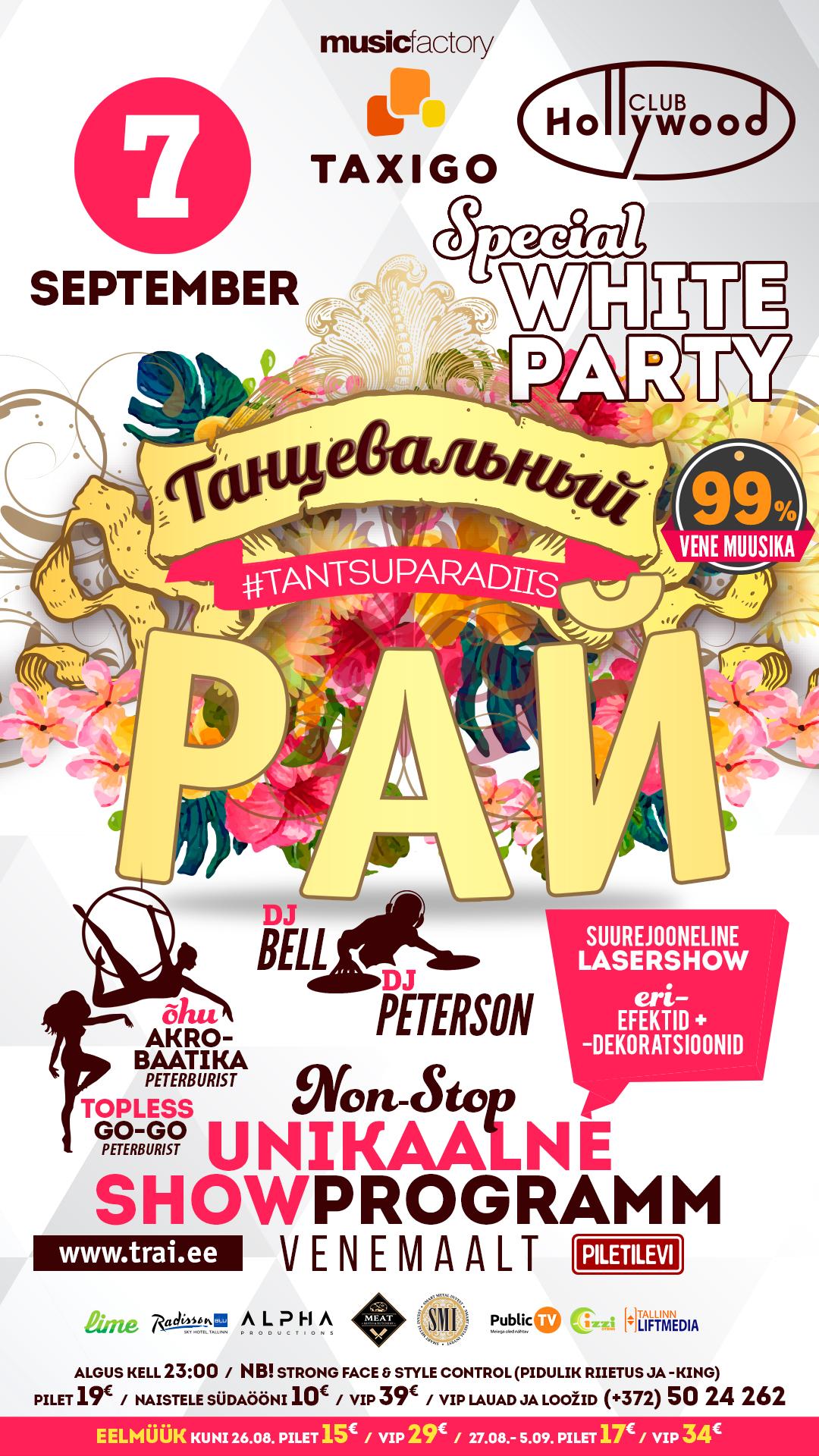 a6f8b17a08f Tantsuparadiis / Танцевальный Рай - special WHITE Party! – GateMe